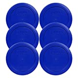 anchor 2 cup lid - 6 Pack! Pyrex Light Blue 2 Cup Round Storage Cover Item Number 7200-PC for Glass Bowls - True Blue Replacement Lid for Pyrex 2 Cup Bowls
