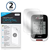Polar M450 Screen Protector, BoxWave [ClearTouch Crystal (2-Pack)] HD Film Skin - Shields From Scratches for Polar M450