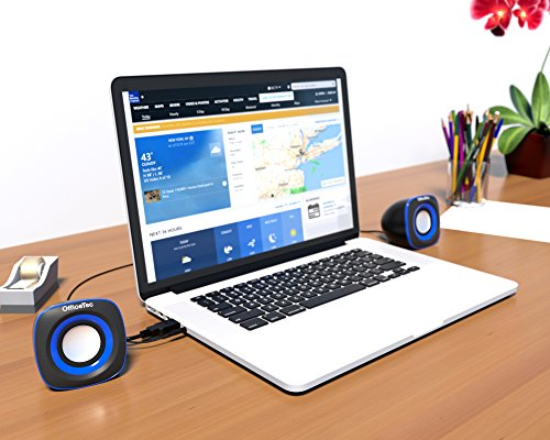 OfficeTec USB Speakers Compact 2.0 System for Mac and PC (Blue) by OfficeTec (Image #5)