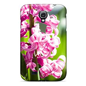 High Grade CloudTown Flexible Tpu Case For Galaxy S4 - Amazing Pink Flowers