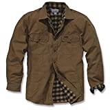 Carhartt Men's Weathered Canvas Shirt Jacket Snap Front,Frontier Brown ,Small