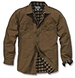 Carhartt Men's Weathered Canvas Shirt Jacket Snap Front,Frontier Brown,Medium