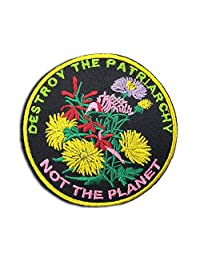 EmmaFem - Feminist Embroidery Patch - Destroy The Patriarchy Not The Planet