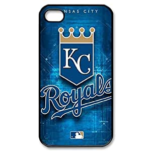 Qxhu MLB Kansas City Royals Team patterns Hard Plastic Back Protective case for Iphone4,4S