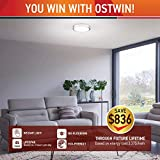OSTWIN 18 Inch LED Flush Mount Ceiling