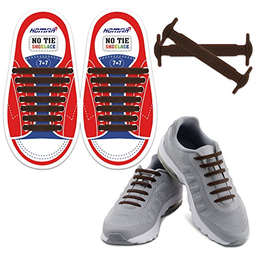 best sneakers 0624d b705c Homar No Tie Shoelaces for Kids and Adults - Waterproof Silicon Flat  Elastic Athletic Running Shoe
