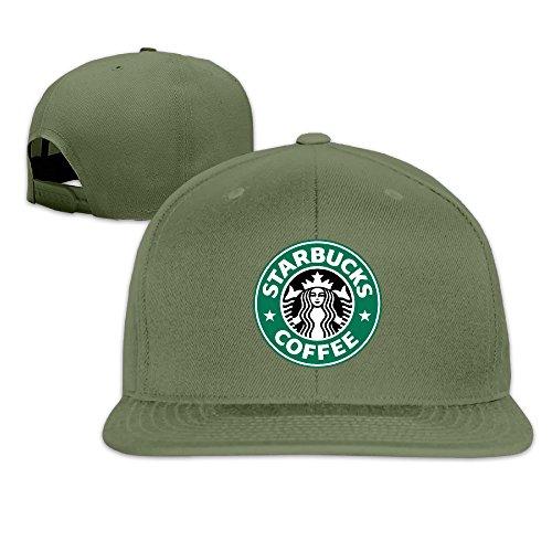 Unisex Black Starbucks Coffee Adjustable Snapback Baseball Caps ForestGreen One Size ()