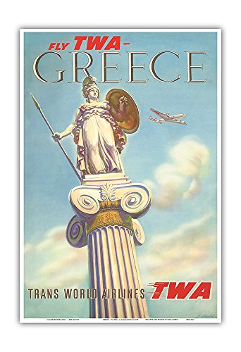 greece-fly-twa-trans-world-airlines-athena-vintage-airline-travel-poster-by-s-almaliction-c1955-mast