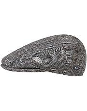 Lipodo Flatcap met ruit heren - gevoerde flatcap met wol - Made in Italy - Maten 49-61 cm - Herencap met klep - Flatcap herfst/winter