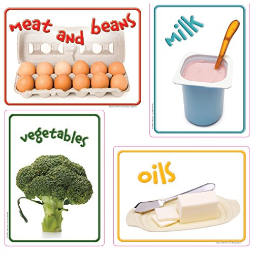 """Edupress EP-3139 Healthy Eating Bulletin Board Accents, 7"""" Wide, 7.5"""" Length, 0.5"""" Height (36 Pieces per Package)"""