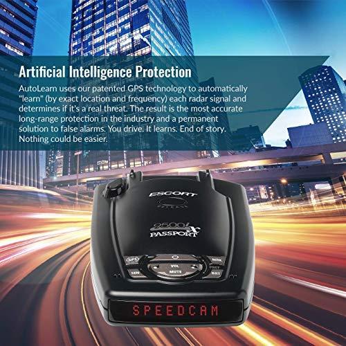 Escort Passport 9500iX Platinum Bundle Laser Radar Detector W/Smart Cord Included for Long Range Detection & Fewer False Alerts