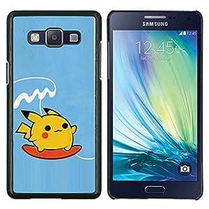 Qstar Arte & diseño plástico duro Fundas Cover Cubre Hard Case Cover para Samsung Galaxy A5 A5000 (Surf de Poke Monster)