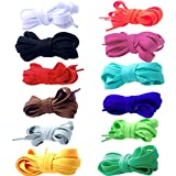 "12 Pairs of Shoelaces Shoe Laces Polyester Different Color 39""/47""/55""/63""/ 71"""