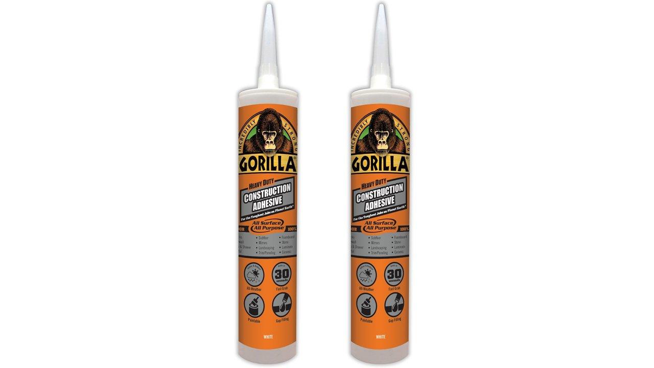 Gorilla Heavy Duty Construction Adhesive, 9 oz, White Gorilla Glue 8010001