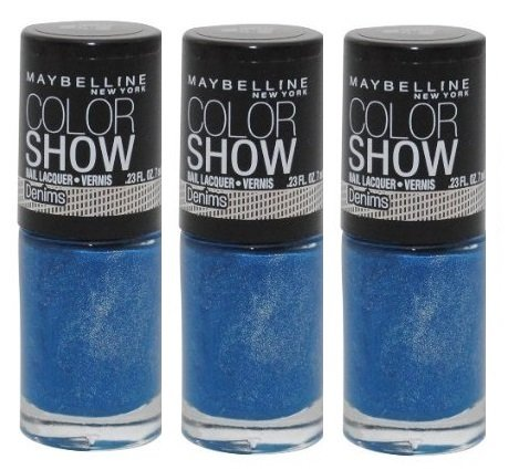 w Nail Lacquer - 10 Denim Dash - 0.23 oz (3 Pack) ()
