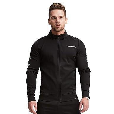 Dobbi Fitness Moda Sweatshirt Casual Cuello Mao Chaqueta Deportiva ...