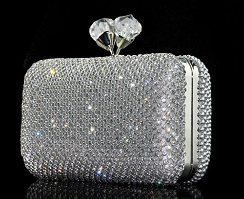 Dinner Diamond Bags Banquet Bridal Bag Black Full Bag Diamond Silver Bag Wedding Yyy Handbag Clutch Rhinestone Wlq Dress qCTtn4