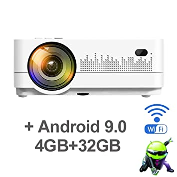 WHLDCD Proyector HD 720P 150inch Mini portátil 3D LCD LED 4k ...