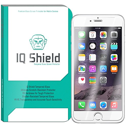 iPhone 6S Screen Protector, IQ Shield Tempered Ballistic Glass Screen Protector for iPhone 6S (iPhone 6 4.7) 99.9% Transparent HD and Anti-Bubble Shield - with