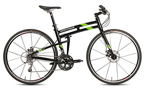 New Montague Fit Folding 700c Pavement Hybrid Bike Gloss Black/Green 19″