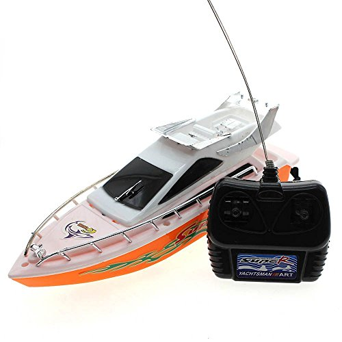 Boat Race Game - MMRM Mini Remote Control RC Speed Boat Simulation Ship Model Sailing Game Race Toy Random Color