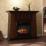 Bayard Espresso Stacked Stone Electric Fireplace