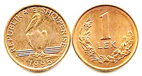 BS 1996 One Hundred (100) Albania 1 Lek Uncirculated Bronze Coins,1996, KM 75,Pelican 1996, KM 75,Pelican Uncirculated