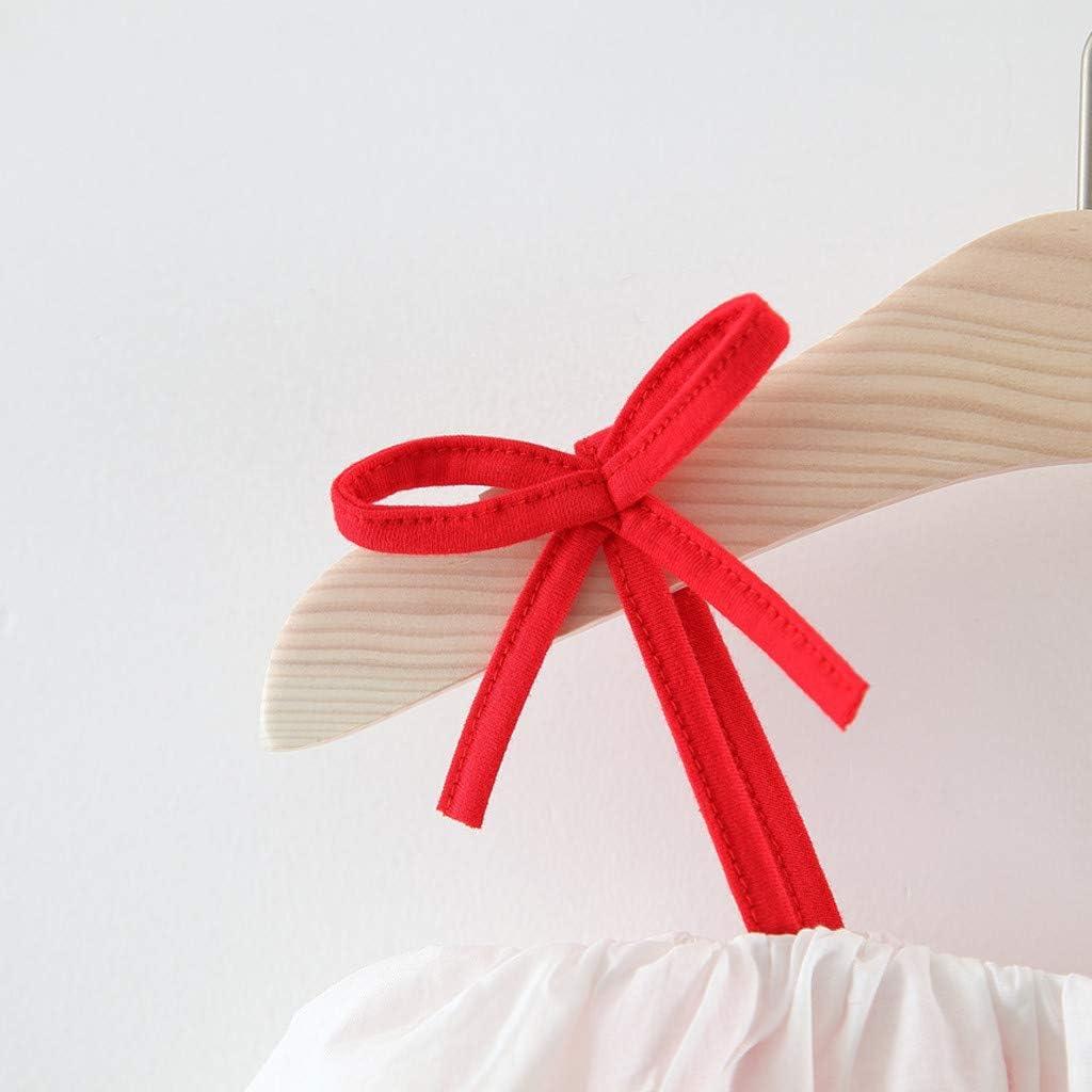 Baby-Kleid M/ädchen Karikatur Punkt R/üschen B/ügel Druck /ärmelloses Kleid Outfits Kleidung Outfits 3-24 Monate wuayi  Baby M/ädchen Kleid