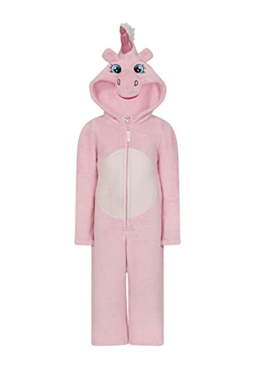 Girls Kids Hooded Unicorn Dressing Gown Robe Onesie Fancy Dress Sleepwear  Cosy Christmas Present Idea  Amazon.co.uk  Clothing 2f044f8b5