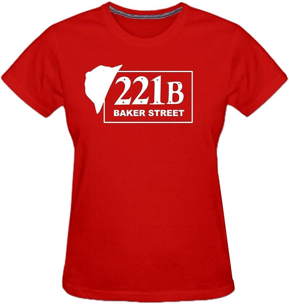 Conquershop Women's 221B Baker Street Funny T-Shirt
