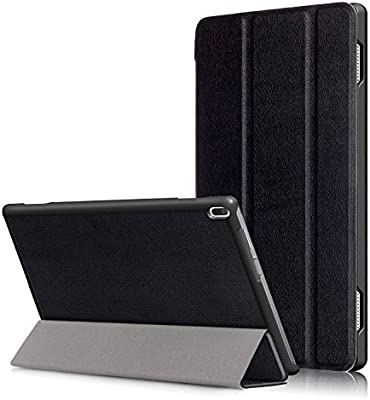 Kepuch Custer Lenovo Tab 4 10 TB-X304F TB-X304N Funda - Slim Smart Cover Funda Protectora de PU Cuero para Lenovo Tab 4 10 TB-X304F TB-X304N - Negro