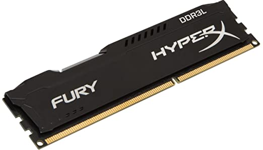 16 opinioni per HyperX FURY Memoria da 4 GB, 1600 MHz, DDR3L CL10 DIMM 240-pin, 1.35 V, Nero