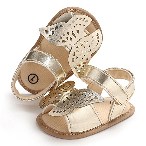 Zehui Hollowed Out Butterfly Sandals with Silica Gel Soles, Skin Friendly & Cozy Sandals for Babies Gold