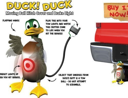 (Hitch Critters Duck Animated Ball Hitch Cover and Brake Light)