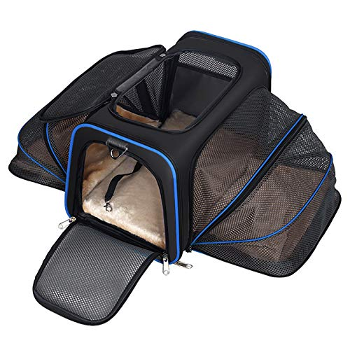 YOUTHINK Expandable Pet Carrier for Dogs and Cats, Soft Sided&Most Airline Approved, Perfect Cat Carrier with Removable Fleece Mat