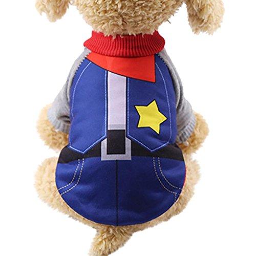 Rendodon Pet Clothes, Spring and Autumn Dog Pet Clothes Warm Fleece Puppy Apparel Clothing (Dark Blue, X-Small)