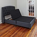Classic Brands Adjustable Comfort Affordamatic Upholstered Adjustable Bed Base/Foundation, Queen