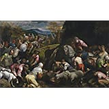 Canvas Prints Of Oil Painting ' Bassano Jacopo Israelites Drinking The Miraculous Water 1566 68' 24 x 39 inch / 61 x 99 cm , Polyster Canvas, gifts for Home Theater, Kids Room And Nursery Decoration