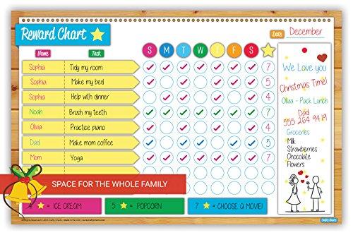 crafty charts magnetic reward chart flexible dry erase board for fridge reusable multiple kids chore planner behavior incentive teaches