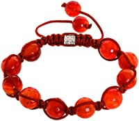 Royal Diamond Blood Red Shamballa Style Bracelet