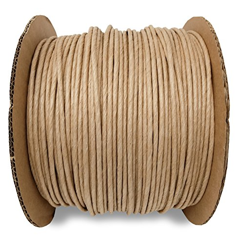 5/32 Fiber Paper Rush Spool Reel, 1,700ft Kraft Brown for Craft Weaving Chairs -