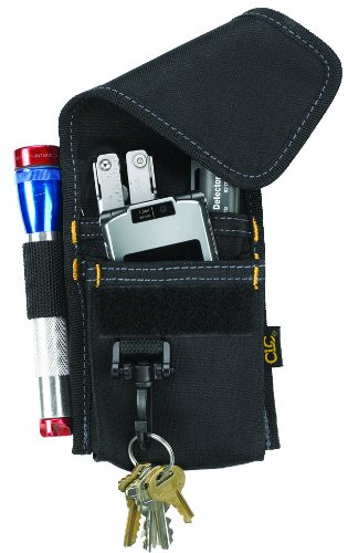 Custom Leathercraft 1104 Construction Multi-Purpose Poly Tool Holder, Cell Phone Holder