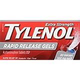 Tylenol Rapid Release Gelcaps, 80 Count