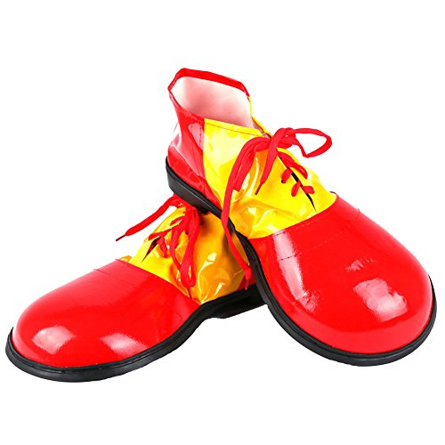 (Honeystore Unisex Jumbo Large Clown Shoes Halloween Costumes Accessories Red)