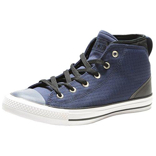 Converse All Star Hi Chuck Taylor Sneaker Scarpe da Ginnastica Tinta Unita Nero Rosso Nuovo