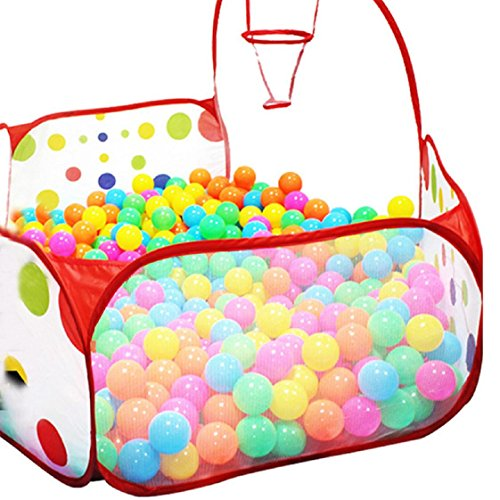 Mchoice Pop up Hexagon Polka Dot Children Ball Play Pool Tent Carry Tote Toy