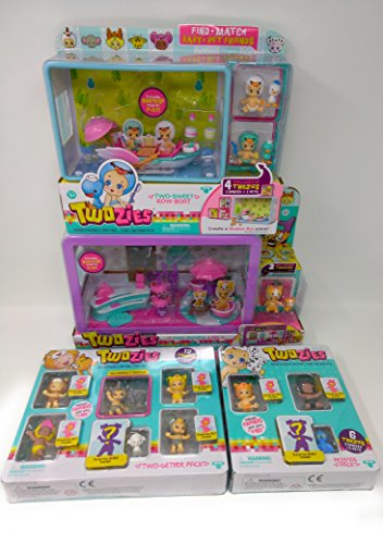 Playful Pony Baby Costumes (Twozies Cafe, Two-Sweet Row Boat, Two-gether & Friends Pack Playset Bundle of 4 B)