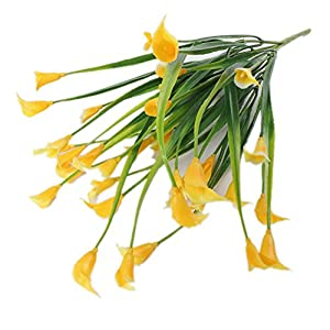 narutosak Artificial Flowers 1 Bouquet 5 Branches Calla Lily Flower Wedding Table Plant Home Decor - Yellow 36