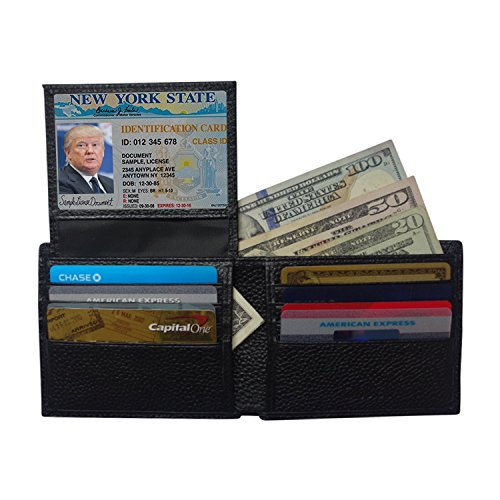 Qubel RFID BLOCKING GENUINE LEATHER BIFOLD WALLET FOR MEN - Ultimate Identity Theft And Credit Card Protection - Best Selling Wallet with the Latest RFID Blocking Technology- Super Slim Wallet Design