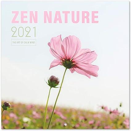 Erik® Calendrier Mural 2020 2021 Zen Nature | 16 Mois, 30x30 cm